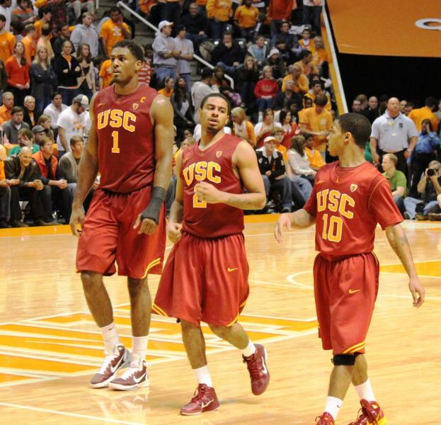 USC's Alex Stepheson, Jio Fontan and Maurice Jones led the way against Tennessee. (Matt Patterson)