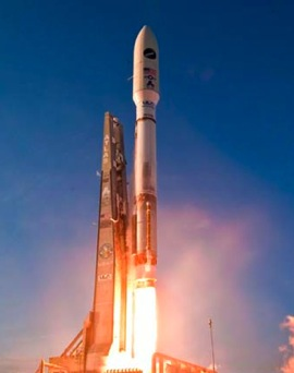 An Atlas 5 rocket carrying an X-37B space plane lifts off on March 5, 2011. Photo by Pat Corkery/United Launch Alliance
