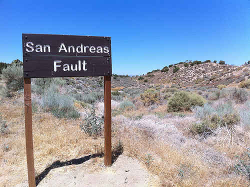 The southern end of the fault, near L.A., poses the greatest risk to California. (Creative Commons)