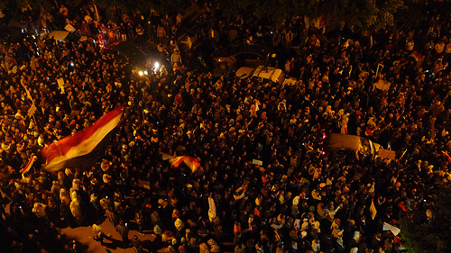 Protesters in Alexandria, Egypt. (Al Jazeera, Creative Commons)