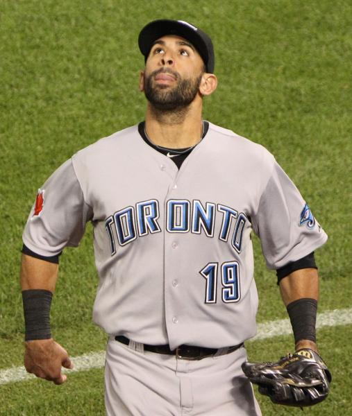 Jose Bautista made his presence known with the glove for once. (Keith Allison, Wikimedia Commons)