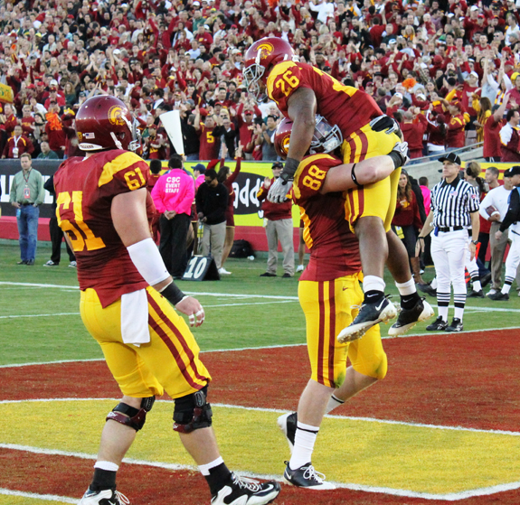 USC hopes to be celebrating at its seven home games in 2011. (Shotgun Spratling)