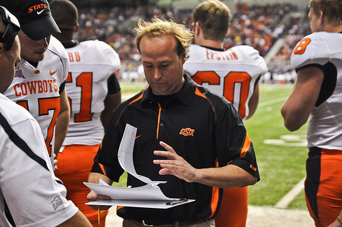 Former Oklahoma State assistant Holgorsen steps into his first head coaching position. (KT King via Creative Commons)
