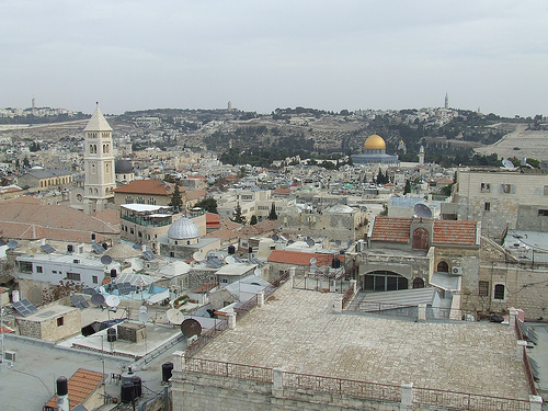 View of the Dome of the Rock from East Jerusalem (Photo by Benjamin Gottlieb).