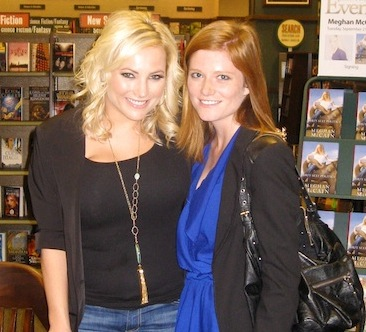 Meghan McCain with reporter Courtney Ridgway