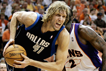 Containing Nowitzski just may be the Achilles' heel for the Heat. (Creative Commons)