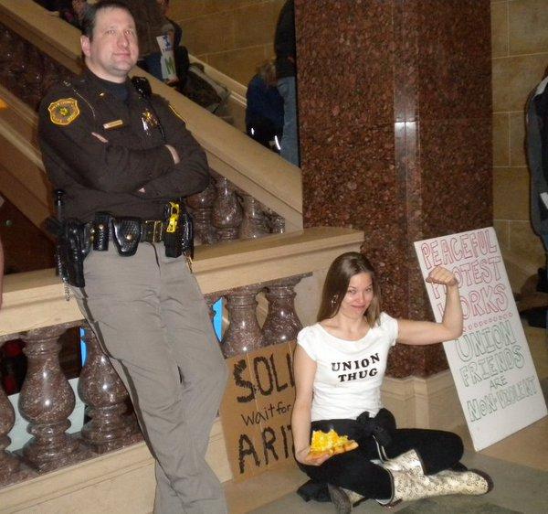 In Madison's Capitol, via @billschwulst
