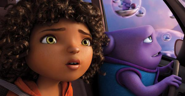 "Rihanna stars in the Dreamworks picture ""Home"" (Twitter/@CBR)"