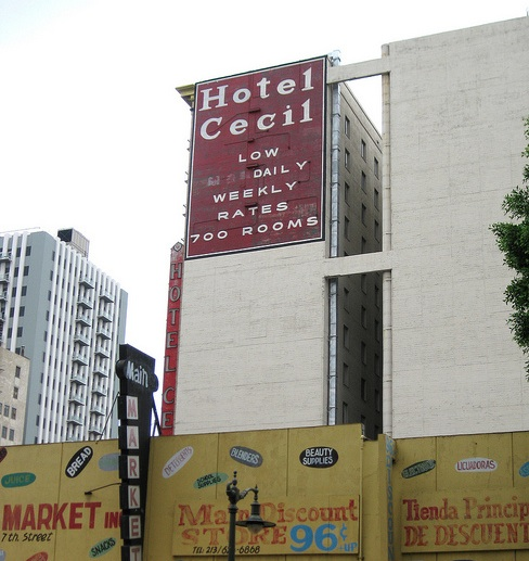Elisa Lam's body was found in the water tank of the Cecil Hotel in downtown Los Angeles. (Creative Commons)