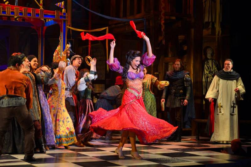 "Ciara Renée as Esmeralda with the cast of ""The Hunchback of Notre Dame"" (Kevin Berne/La Jolla Playhouse)"
