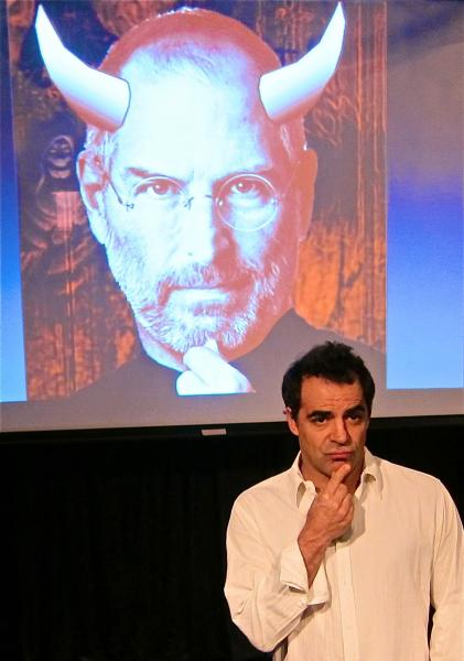 "Alex Lyras in ""The Agony and the Ecstasy of Steve Jobs."" Photo by Christina Xenos."