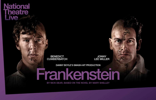 "Benedict Cumberbatch and Johnny Miller in ""Frankenstein"" (@ntlive/Twitter)"