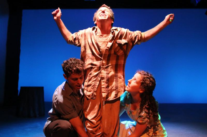 "Clay Bunker, Michael Beck and Ivy Beech in ""The Diviners."" (Lindsay Schnebly)"