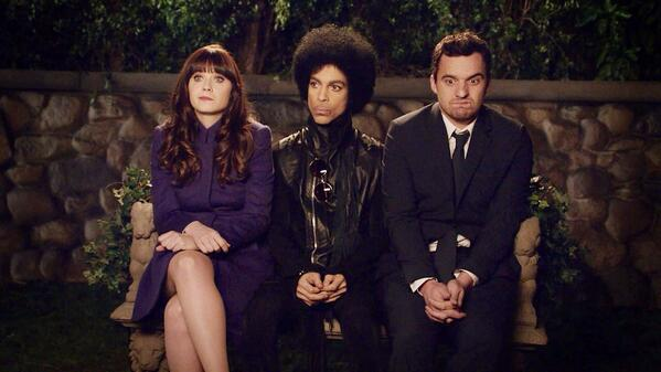 "Prince guest stars on ""New Girl. (twitpic
