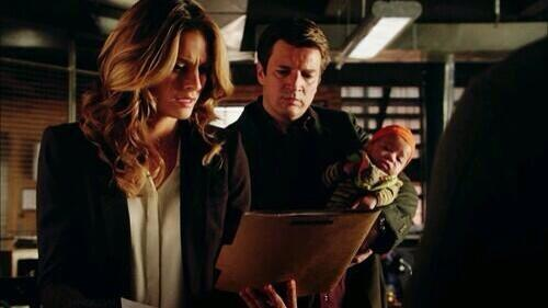 Stana Katic (left) and Nathan Fillion (twitpic|@universalways)