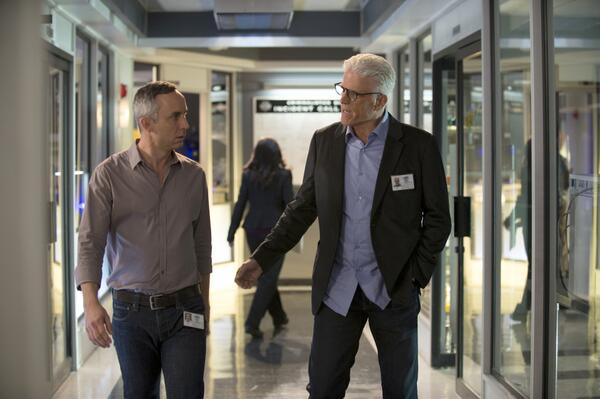 Wallace Langham (left) and Ted Danson (twitpic|@CSI_CBS)