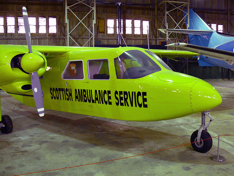 Samoa Air operates with a Britten-Norman BN2A aircraft similar in size to the one pictured here. (Ad Meskens, Creative Commons)