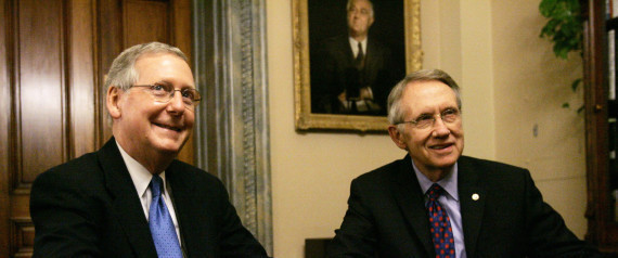 Harry Reid and Mitch McConnell. (Tina Hemond/Google Advanced Search)