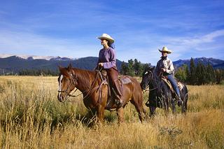 Horseback riding is all things romantic (Creative Commons/Flickr user Echo Valley Ranch).