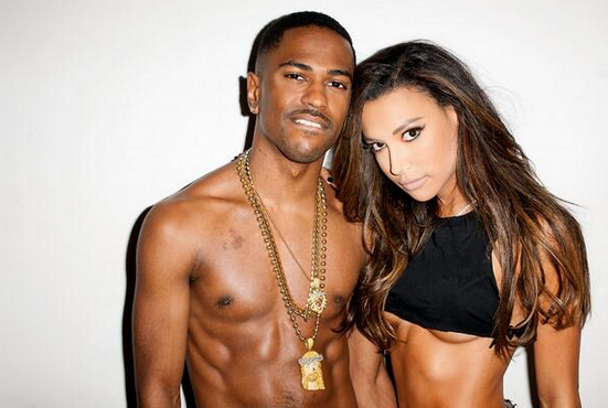 Big Sean and Naya Rivera met on Twitter. (Twitter @RapDose)