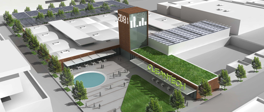 Artist's rendering of the La Kretz Innovation Campus, set to open in 2015. (Courtesy of L.A. Cleantech)