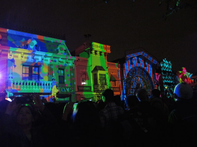 New light projections for the light and firework show (Susan Valot / Neon Tommy)