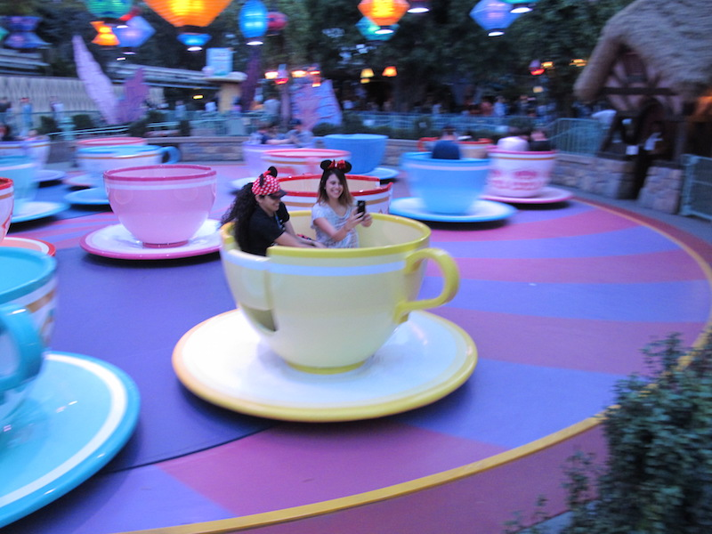 The Teacup ride is one of the original rides in the park (Susan Valot / Neon Tommy)