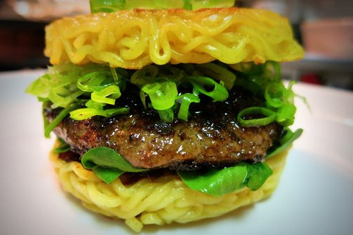 Is it a burger with noodles or is it noodles with meat? (ManEatManila/Creative Commons)
