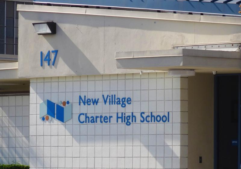 New Village Charter High School, the place where Alma holds their outreach program (Janelle Cabuco / Neon Tommy).