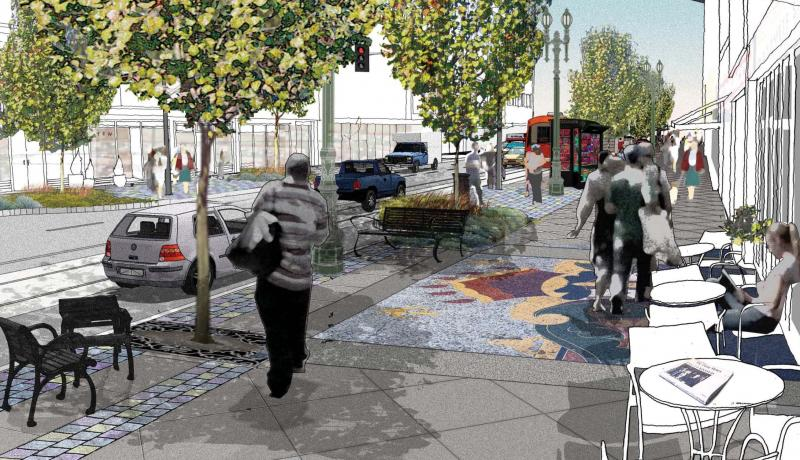The future of Downtown's Broadway District. (Courtesy of LADOT)
