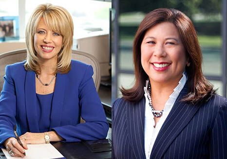 Republican Ashley Swearengin (left) and Democrat Betty Yee will face off for the State Controller seat. (Betty Yee for Controller 2014; Ashley Swearengin / Facebook)