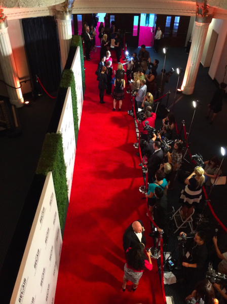 A bird's eye view of the Bel Air's Red Carpet. (Neon Tommy/Danny Galvin)