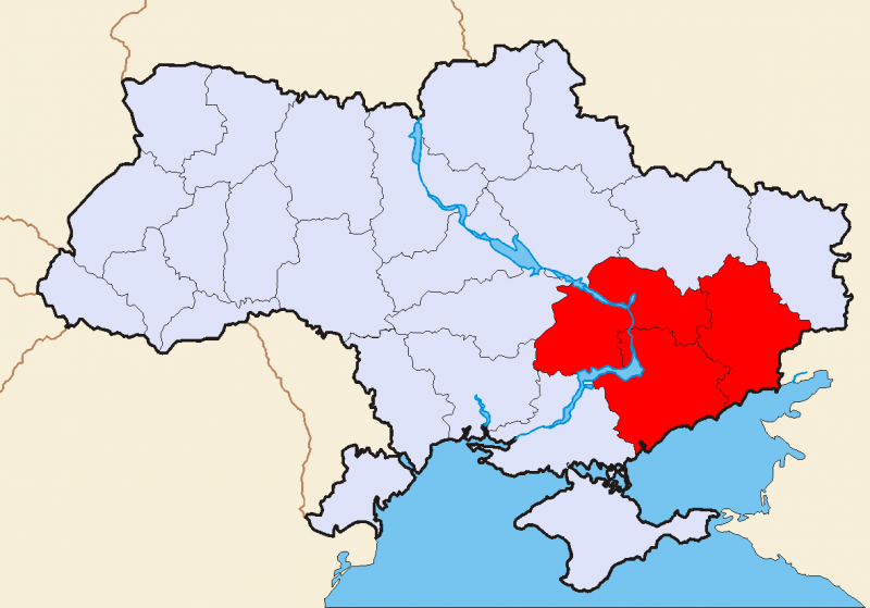 Makhnovia lied just above Crimea in southern Ukraine. Wikimedia.
