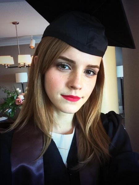 Emma Watson is the newest inductee into the smart celebrities club (@EmWatson - Instagram).