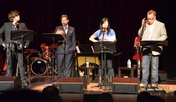 "Musician Will Sheff, Comedians Paul F. Tompkins and Margaret Cho, and ""Wits"" Host John Moe kept audiences laughing at Festival After Dark (Heidi Carreon/Neon Tommy)"
