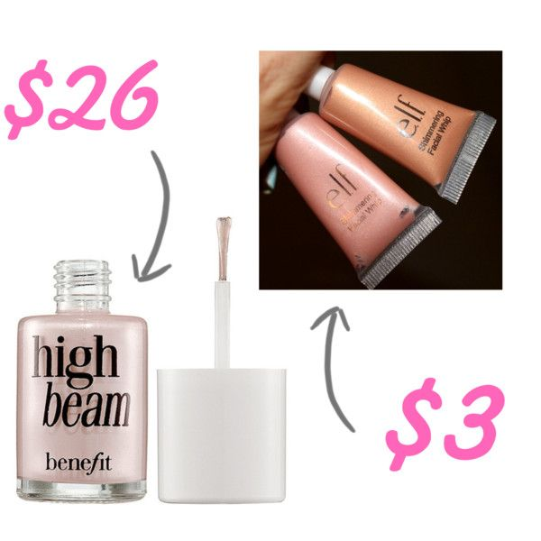 Add luminosity to your face with some highlighter (helen-carefoot/Polyvore).