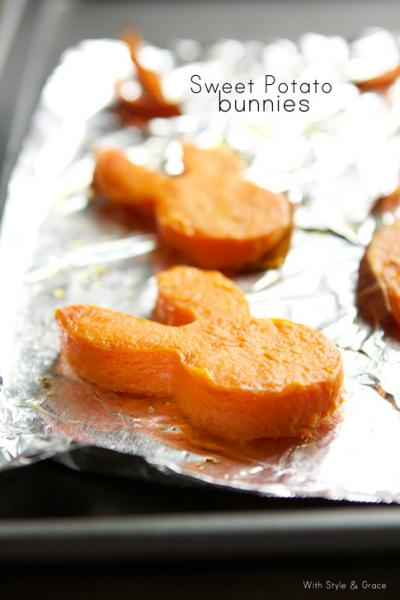 Sweet potato cutouts are a cute way to honor the Easter Bunny (With Style & Grace/Pinterest).