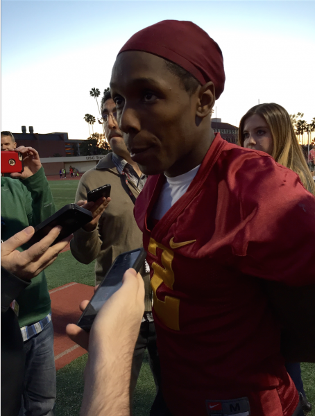Adoree' Jackson had his offensive practice session today (NeonTommy)