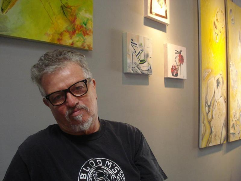 Jonathan Jerald in his gallery on 3rd Street (Vanessa Okoth-Obbo/Neon Tommy)
