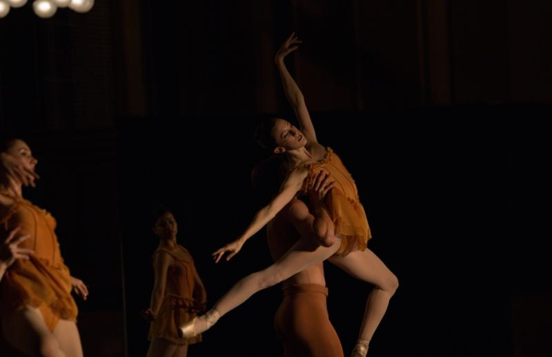 "Emily Parker with Colby Parson in ""Autumn"" (Photo by Ryan Young)"