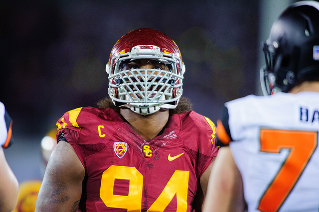 Leonard Williams is projected to be a top pick in this year's draft (Charlie Magovern/Neon Tommy).