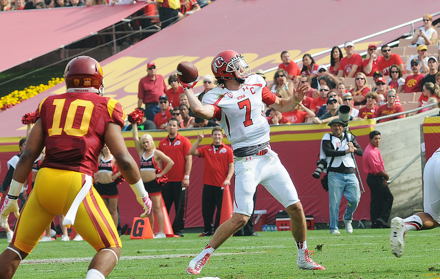 An impressive win for Utah at Oregon catapults them up the Pac-12 rankings. (Flickr/ Neon Tommy)