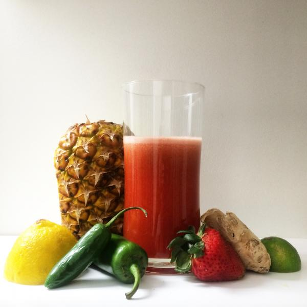 The contents of a typical lunch juice while on my juice fast. (Marisa Zocco / Neon Tommy)