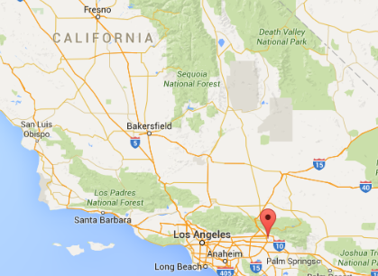 The shooting took place in San Bernardino, which is a little more than an hour east of L.A.