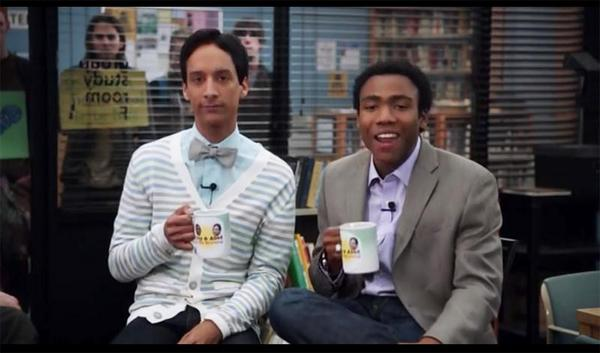 Abed and Troy (Twitter, @Momentosdeserie)