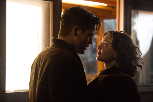 "Chris Pine and Holliday Grainger in ""The Finest Hours"" (Disney)"