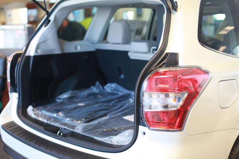 "The Forester has 34.4 cu ft. of cargo space in the back (Amou ""Joe"" Seto/Neon Tommy)"