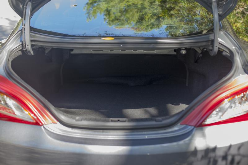"The Genesis trunk holds a reasonable 10 cubic feet of space (Amou ""Joe"" Seto/Neon Tommy)"