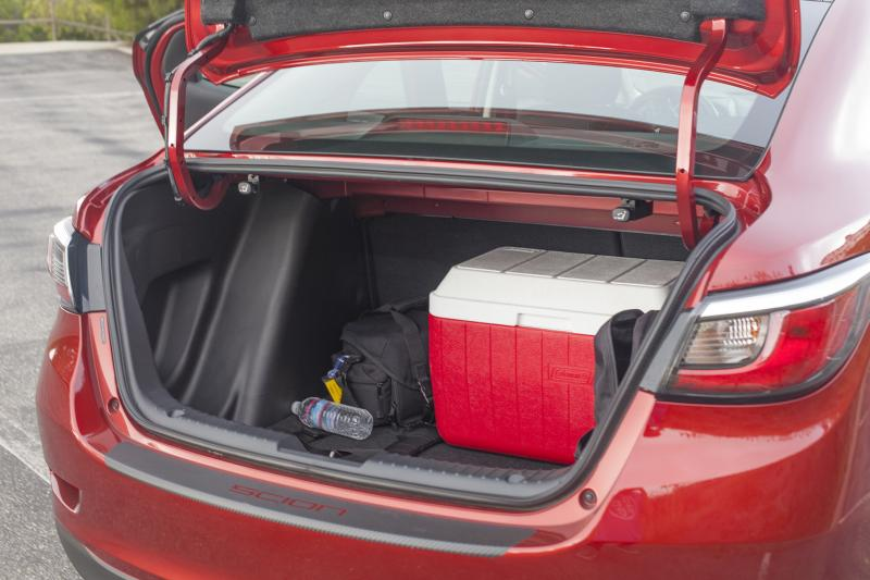 "Despite being such a small car, the trunk space in the iA is simply enourmous (Amou ""Joe"" Seto/Neon Tommy)"
