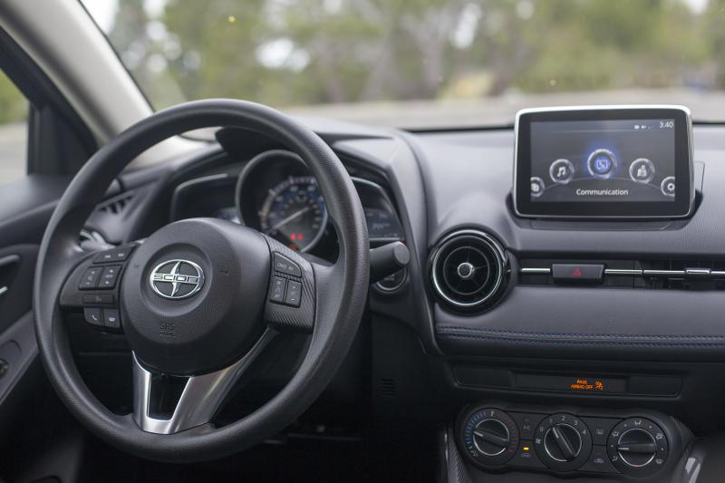 "The Scion iA has one of the best looking interiors of any cars in its price range (Amou ""Joe"" Seto/Neon Tommy)"